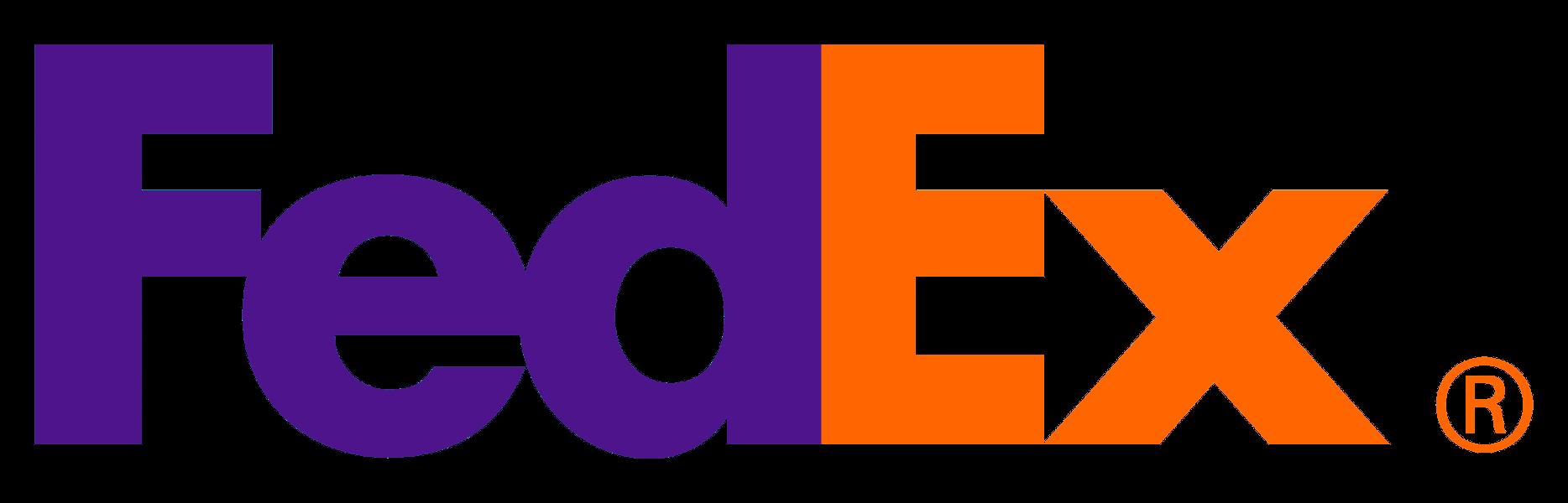 Kurier FedEx, firma kurierska FedEx, logotyp FedEx