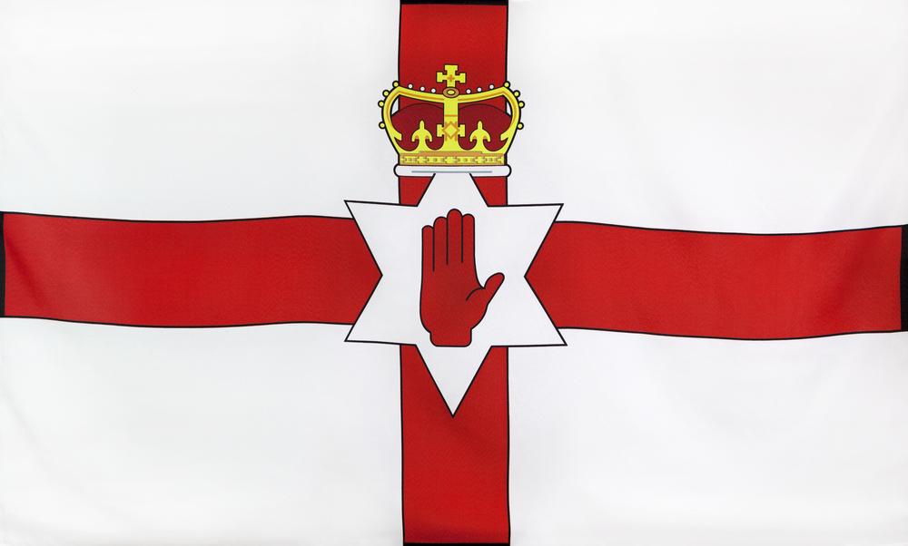 Paczki i przesyłki do Irlandii Północnej - flaga Irlandii Północnej
