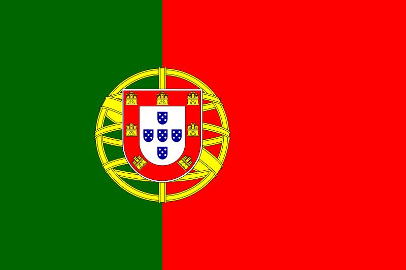 Paczki i przesyłki do Portugalii - flaga Portugalii