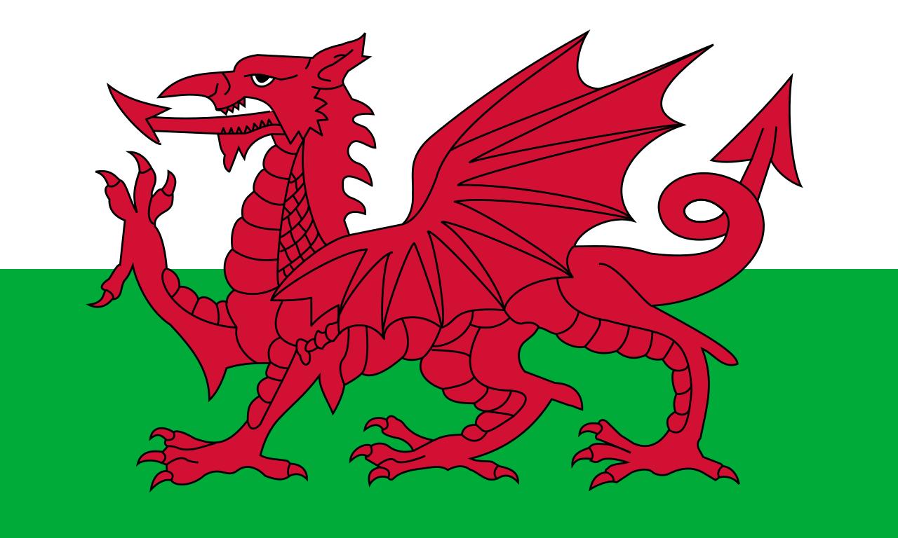 Paczki i przesyłki do Walii - flaga Walii