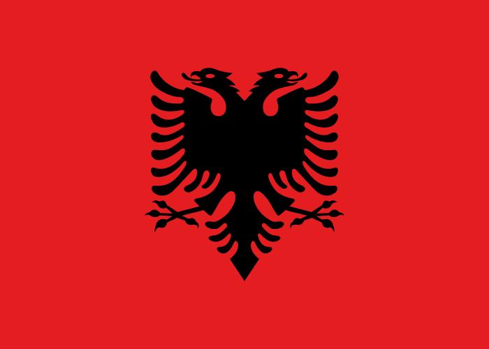 Flaga Albanii - tanie przesyłki do Albanii