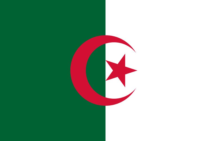 Paczki i przesyłki do Algierii - flaga Algierii