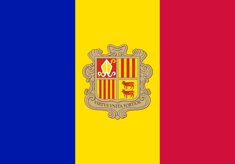 Paczki i przesyłki do Andory- flaga Andory