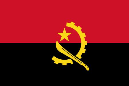 paczki i przesyłki do Angoli - flaga angoli