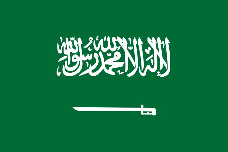 Paczki i przesyłki do Arabii Saudyjskiej - flaga Arabii Saudyjskiej