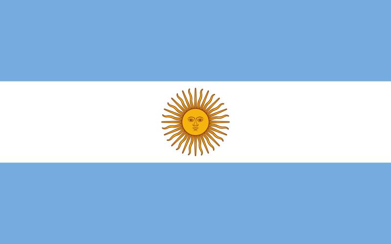 Paczki i przesyłki do Argentyny - flaga Argentyny