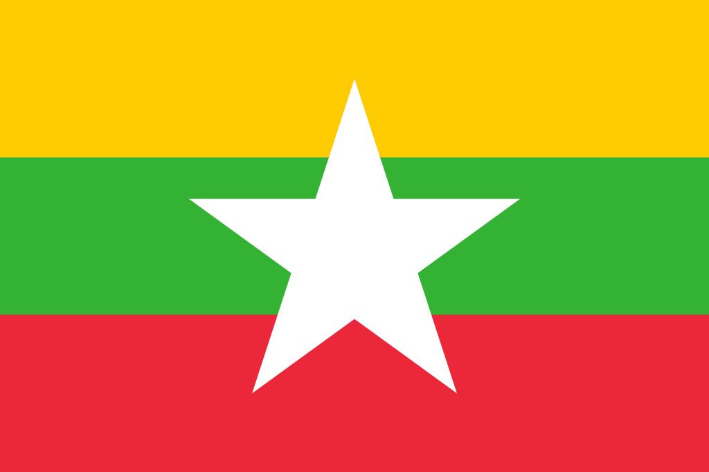 Paczki i przesyłki do Birmy - flaga Birmy