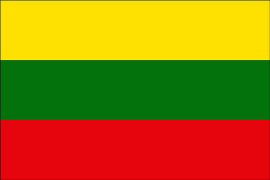 Paczki i przesyłki na Litwę - flaga Litwy