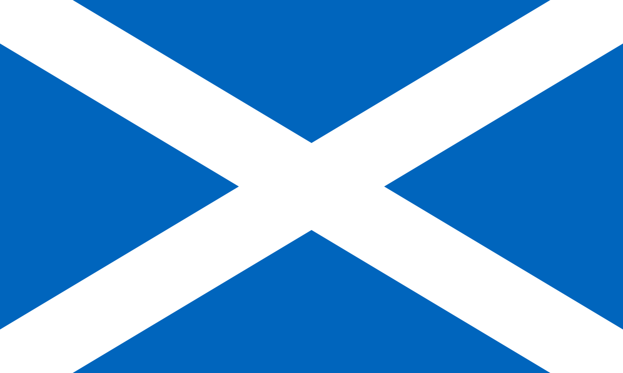 Paczki i przesyłki do Szkocji - flaga Szkocji