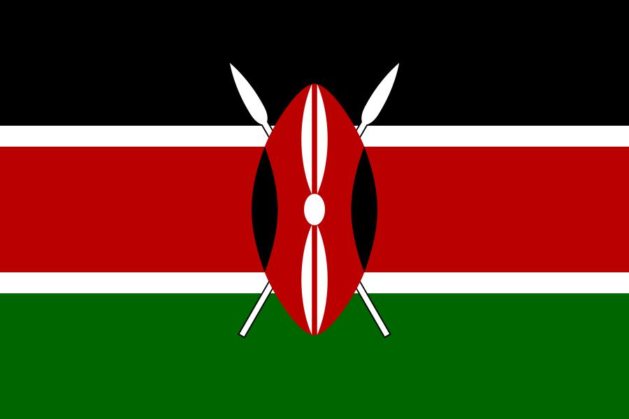 Paczki i przesyłki do Kenii - flaga