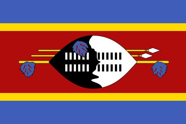 Paczki i przesyłki do Suazi, flaga Suazi