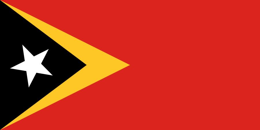 Paczki i przesyłki do Timoru Wschodniego, flaga