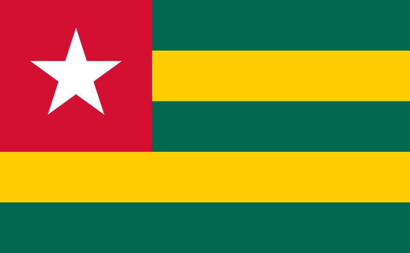 Paczki i przesyłki do Togo, flaga