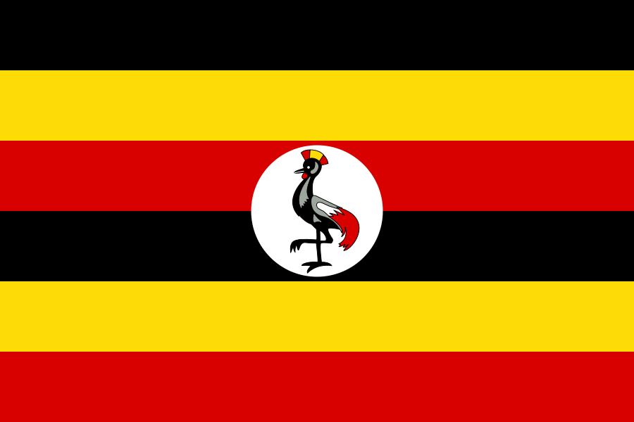 Paczki i przesyłki do Ugandy, flaga kraju