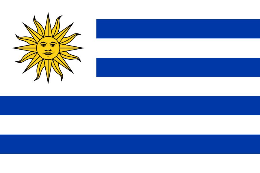 Paczki i przesyłki do Urugwaju, flaga kraju